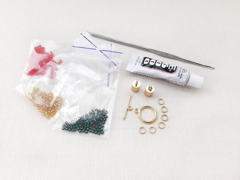 DIY Crafts Kit for Adults diy jewelry making kit Christmas bracelet making kit Seed bead crochet bracelet kit diy kit Beadwork pattern