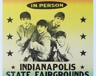 10%OFF! Framed Beatles Tour Poster