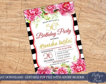 30th 40th 50th 60th 70th birthday invitation party etsy