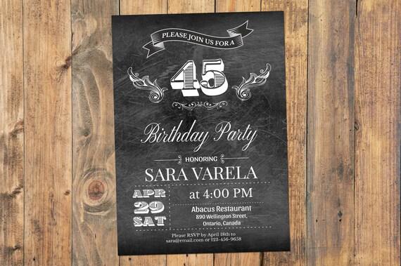 30 Sza 40 Ci 60 Cie Urodziny Zaproszenie Vintage Party Etsy
