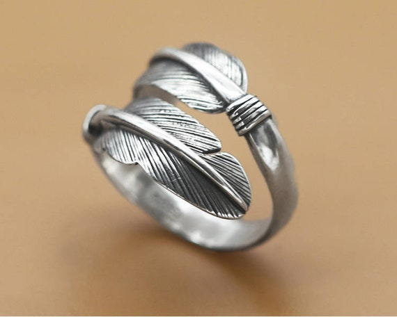 index or middle finger ring tube full finger ring Sterling silver long cuff ring