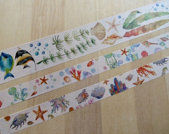 Colorful Jellyfish Washi Tape Papercraft Planner Supply Journal DIY Craft Summer