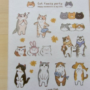 Vinyl Laptop Kitty Locker Cute Cat Orange Cat Journal Sticker Stationery Scottish Fold Sticker Sheet Waffles the Cat Bujo