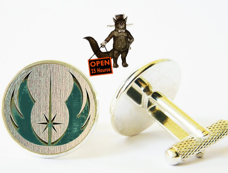 Star wars jewelry Star wars accessory Jedi cufflinks Star wars jedy cuff link cufflink Men Jewelry Star wars cufflinks