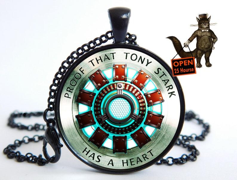 Arc reactor pendant necklace for man men Boy guy jewelry superhero iron hero pendant necklace husband friend gift gifts