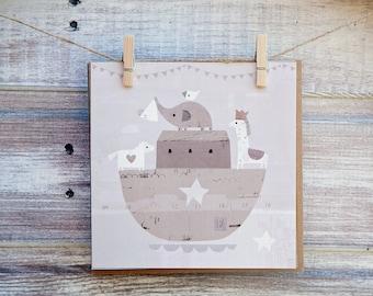 New Baby Card - Baby Greetings Card - Cute Greetings Card - Cards for Baby - Paintlove Studio Cards - Noah's Ark Greetings Card