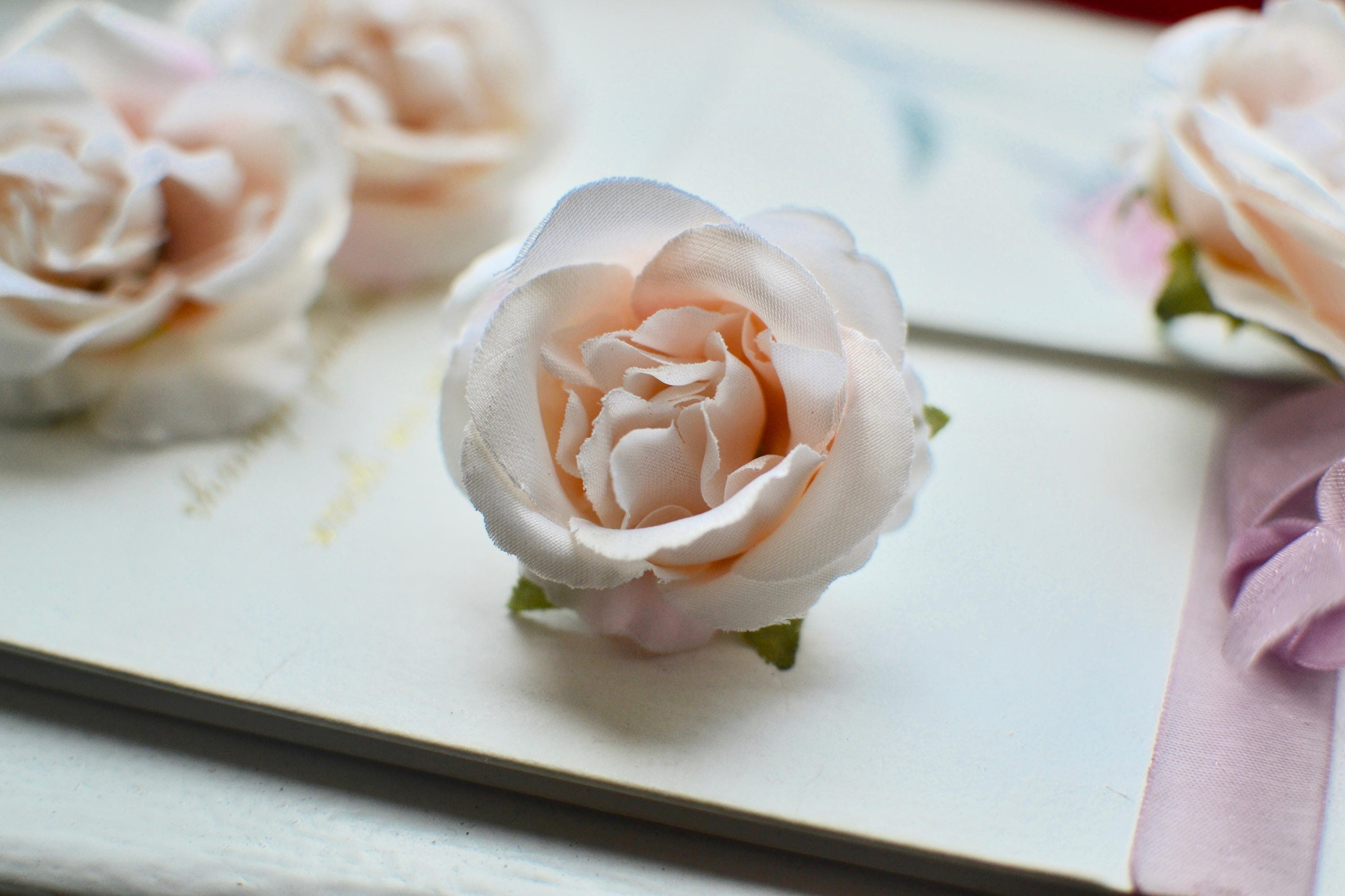 Pink Silk Fabric Rose Head Artificial Flower Millinery Hair Etsy