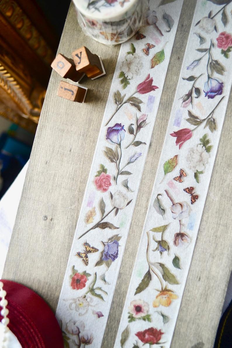 Vintage tape Floral adhesive tape Floral washi tape