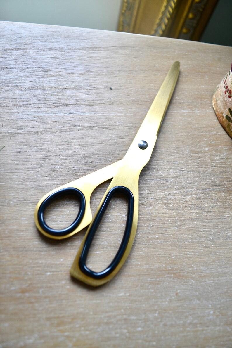 Shear trimming Stainless steel scissors Golden scissors Embroidery crochet tailor scissors Gift for her Sharp cutting scissors