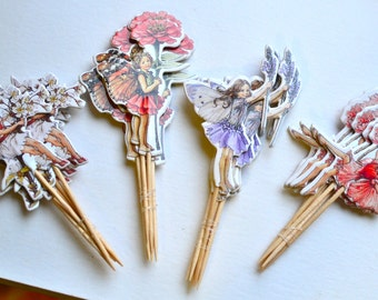 6 Fairy toppers I Fairy cake toppers I Cupcake toppers I Fairy party I Party supplies I Cake toppers I Cake toppers I Fairy garden