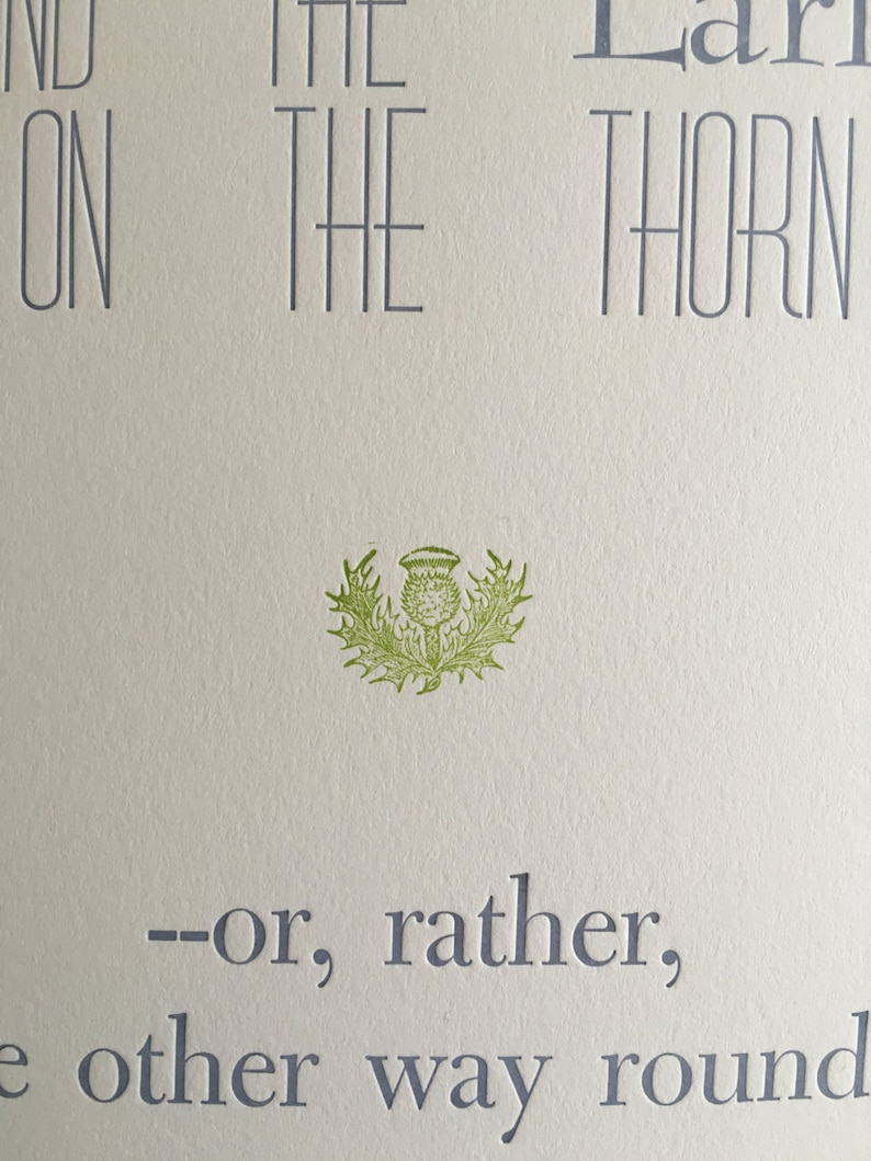 Wodehouse Quote Poster Letterpress Print of P.G