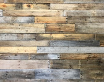 reclaimed barn wood etsyreclaimed wood boards standard mix 25 square feet ready to install reclaimed wood plank reclaimed barn wood wood wall pallet wall shiplap
