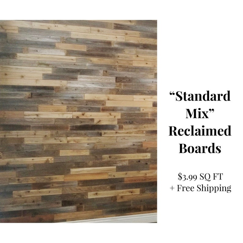 Reclaimed Wood Boards  Standard Mix  3.99 SQ FT  Reclaimed image 0