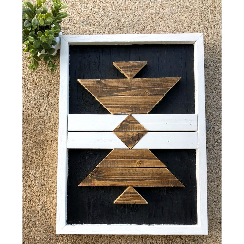 Reclaimed Wood Wall Art Wood Sign Geometric Wood Art Wood Mosaic Wall Art Rustic Decor Farmhouse Barnwood Art Pallet Wood Reclaim Wood Art