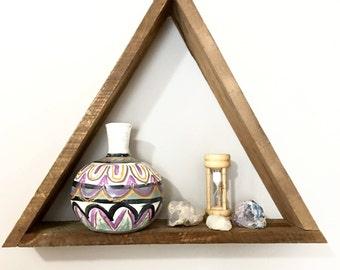 Reclaimed triangle shelf - Geometric shelving - Wood wall shelf - Modern shelf - Geometric wood wall decor