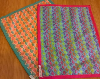 Set of 2 placemats in 100% Oeko-Tex cotton Kindergarten/Childhood/Elementary