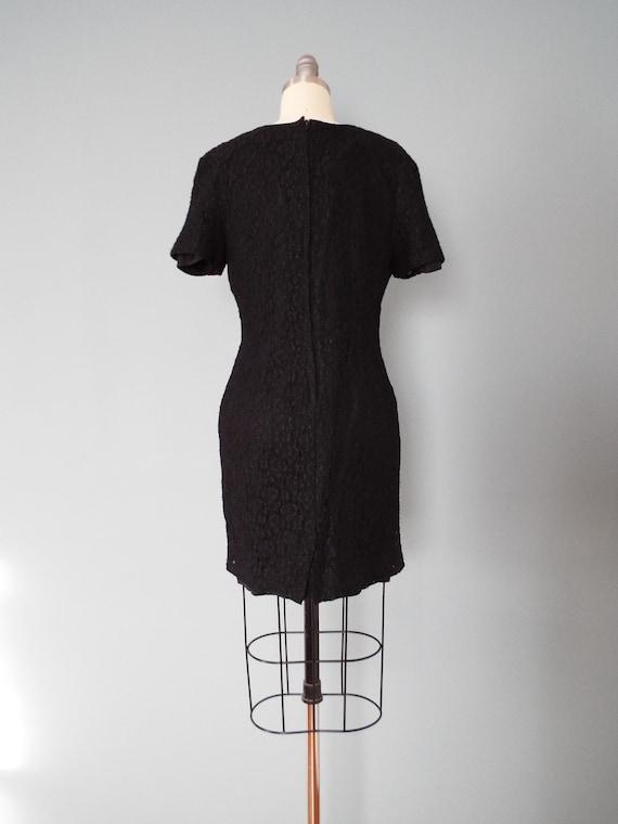 BLACK lace mini dress | little black dress - image 7