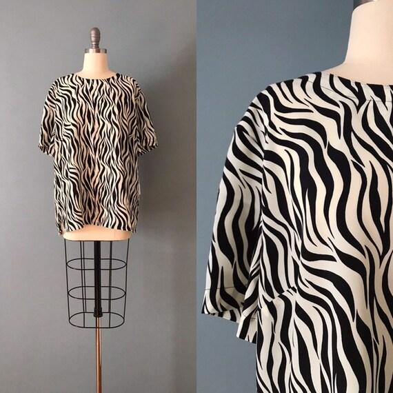 ZEBRA print oversized blouse