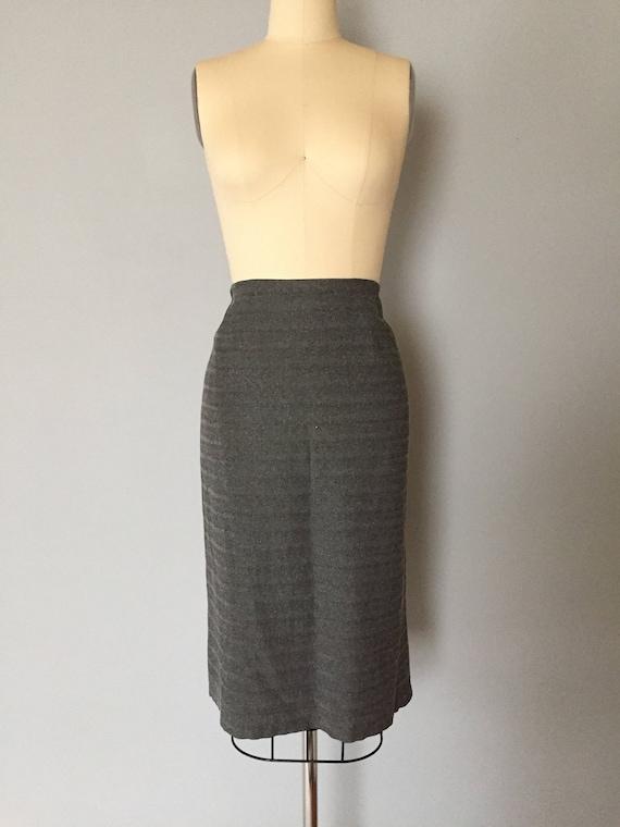 GIANFRANCO FERRE metallic gray skirt / 1990s desi… - image 8