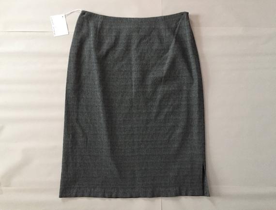GIANFRANCO FERRE metallic gray skirt / 1990s desi… - image 3