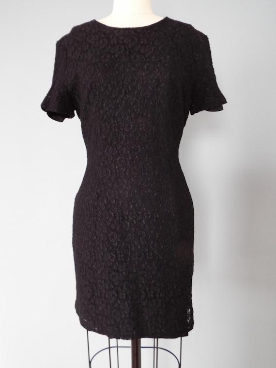 BLACK lace mini dress | little black dress - image 4