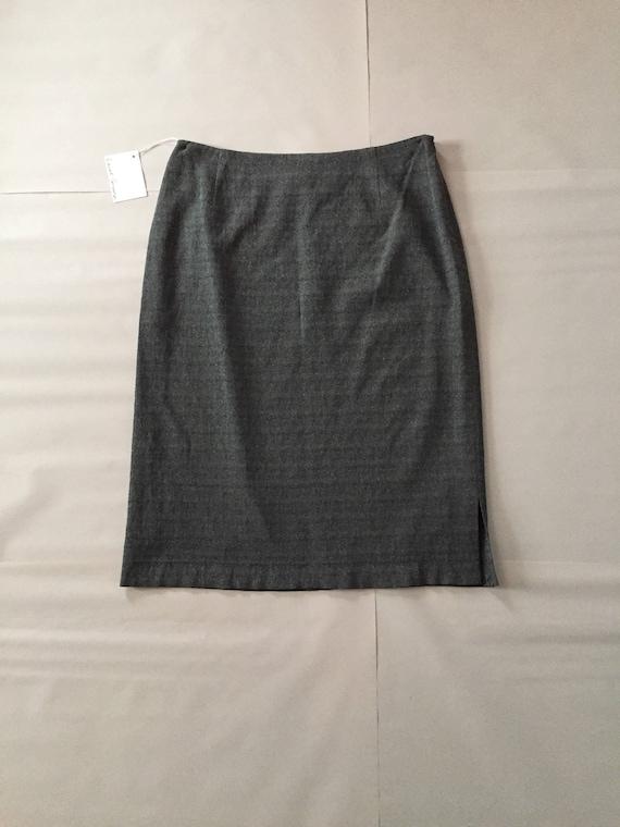 GIANFRANCO FERRE metallic gray skirt / 1990s desi… - image 1