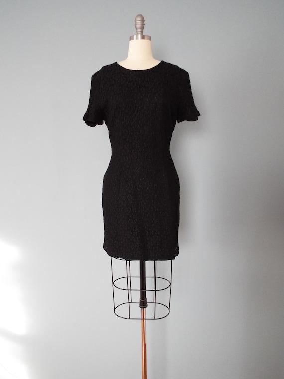 BLACK lace mini dress | little black dress - image 2