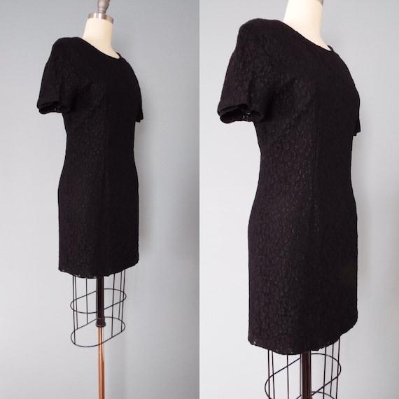 BLACK lace mini dress | little black dress - image 5
