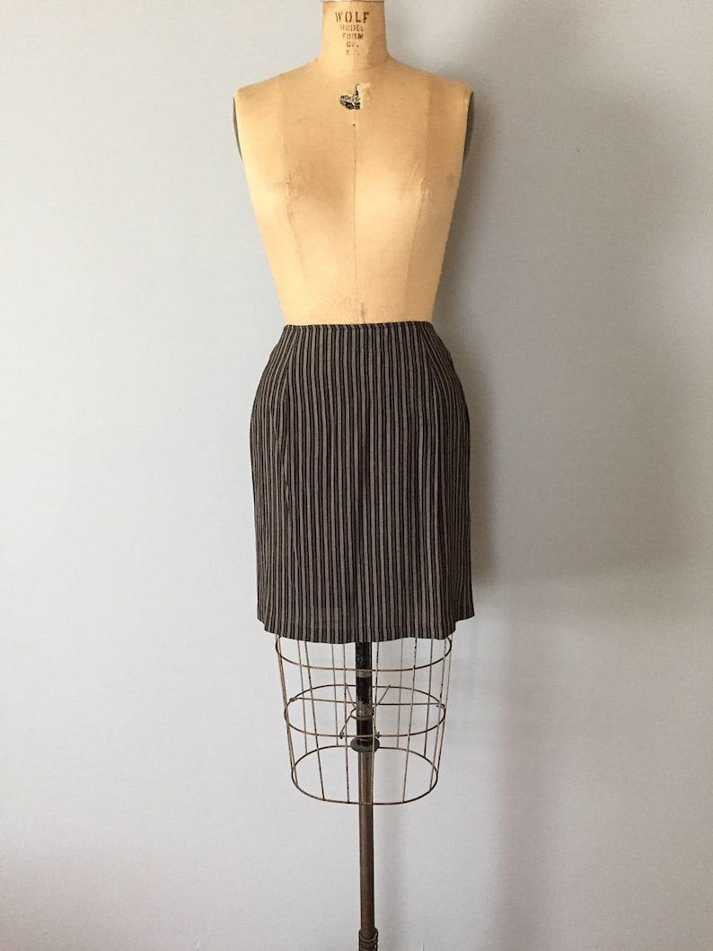 fcaa01f074 90s striped mini skirt mini pencil skirt two tone grey | Etsy