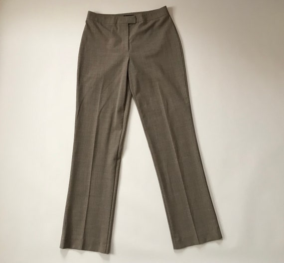 1990s BEBE pants | stone brown skinny cigarette pa