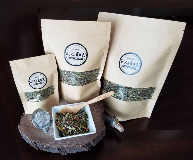 Fruity Yerba Mate Detox Tea - Essential 6 Detox Tea Blend Containing 6  Powerful Detox Ingredients   Try Samples up to a Half Pound!