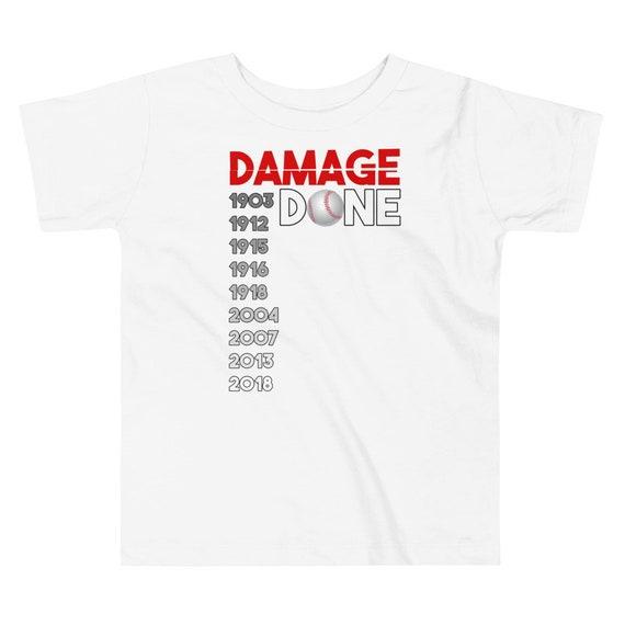 64f665dd6 Toddler Damage Done T Shirt Boston Red Sox World Champions | Etsy