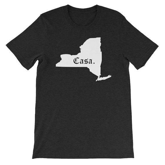 New York Casa T Shirt - vieux manche anglaise unisexe York ou New York unisexe maison T-Shirt homme 831554