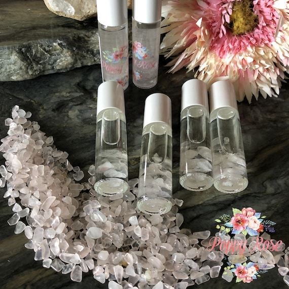 Rose Quartz Infused Essential Oil Blend Roll-On