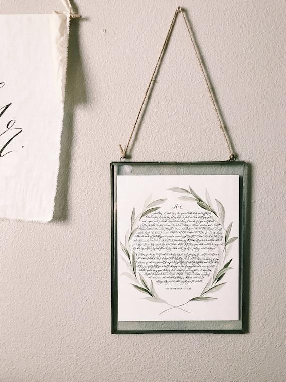 aa4e20db4cf9 Custom Calligraphy print with glass frame image 0 ...