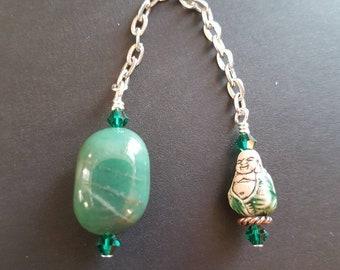 Aventurine and Buddha Pendulum