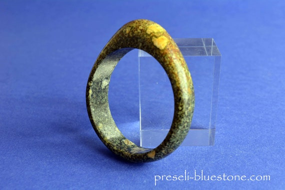 Handmade PRESELI BLUESTONE Bangle  Ø 60 mm  (#03)