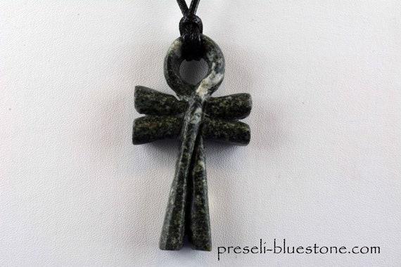 Hand made Preseli Bluestone ANKH pendant, symbol  (double legged) .... (#17)