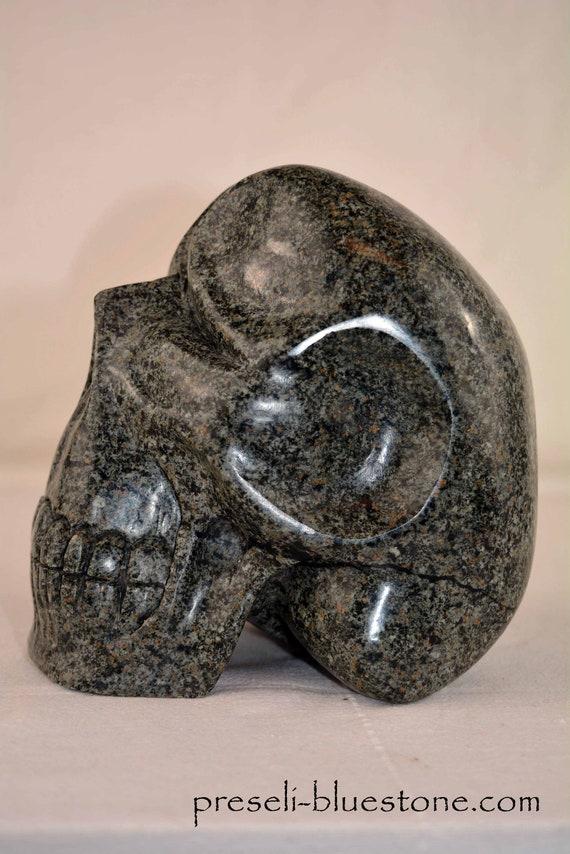 Large Un-spotted Preseli Bluestone Skull .....