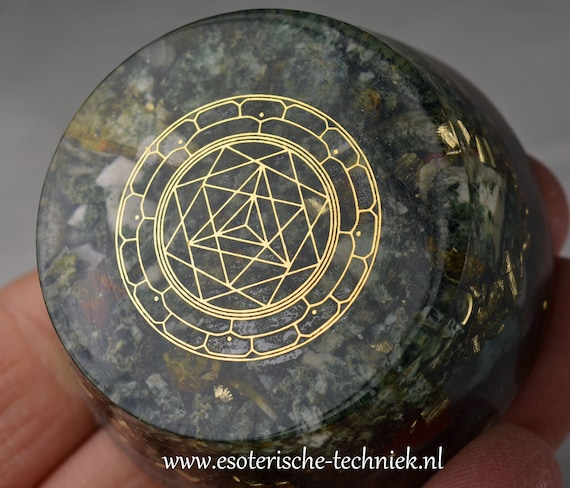 Orgone Orgonite Tower buster with the Merkaba symbol