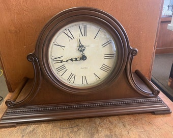 Vintage Howard Miller 72nd Anniversary Mantel Clock Dual Chime 630-150