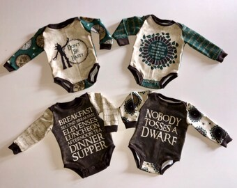 8567e496 Lord of the Rings Bodysuit | LOTR bodysuit sets OR bodysuit ONLY | Unisex  bodysuits | 5 panels to choose from