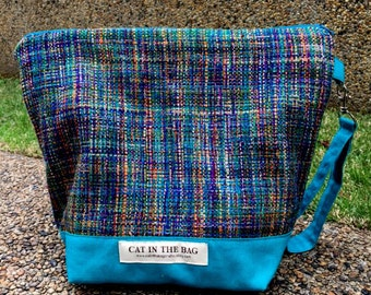 Zipped Wedge Bag