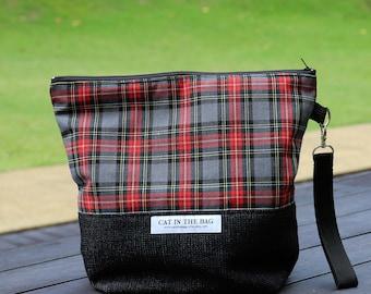 The Crimson Tartan Zipped Wedge Bag