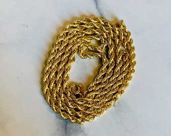 """Sale 9ct 9k Yellow /""""Gold Filled/"""" Rope Chain Necklace Men Women Girls L= 23/"""" 2mm"""