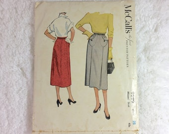 d4946a0f72 McCall s 9589 Vintage Sewing Pattern Misses  Skirt Waist 28   1950s pattern    rare collectible pattern   ladies  postwar fashion   pleated