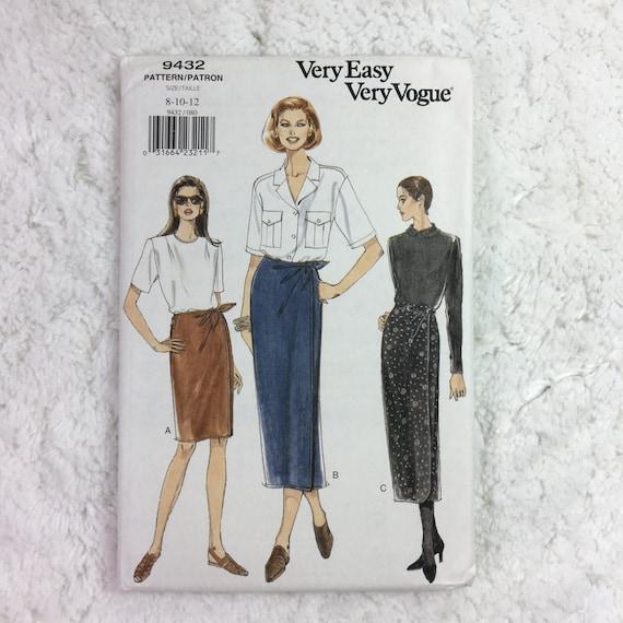 Vogue 9432 Vintage Sewing Pattern Misses Skirt Sizes 8 12 Etsy