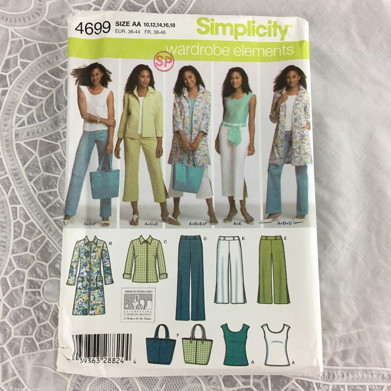 McCalls 7263 Misses Cardigan Tunic Dress Pants Sewing Pattern Sz 8-16