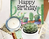 Happy Birthday Gift Box - Succulent gift box - Friend Gift Box -Best Friend Gift - birthday gift for friend - succulent gift - send a gift
