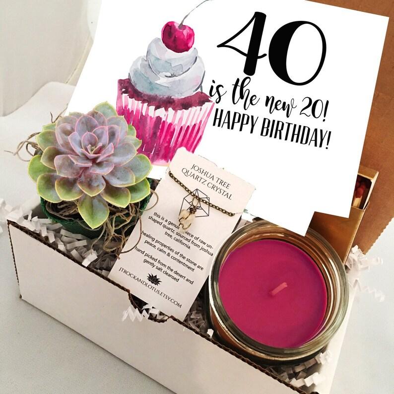 40th Birthday Funny Succulent Gift Box Set Send A